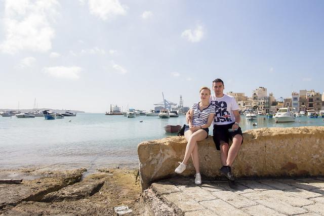 Port View in Birzebbuga / Malta