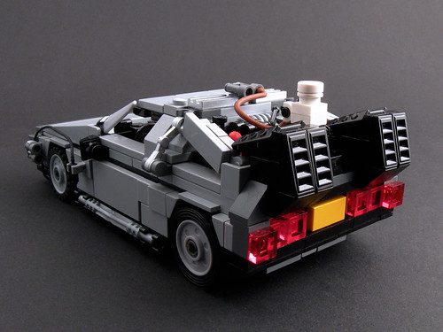 BTTF Part II Time Machine - Rear View