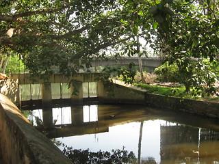 The bridge over the river at Thiruvallam