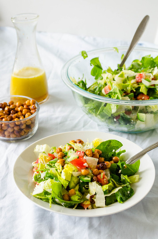 Chopped Salad with Roasted Chickpeas (My Favorite Chopped Salad)