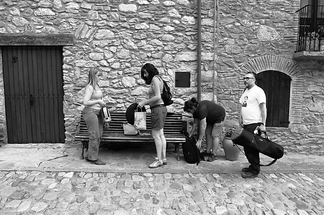 Bob, Karen, Alison and Andy, Beget, Pyrenees, Spain