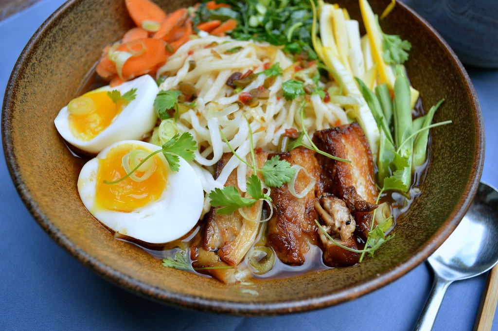 Slow Roasted Pork Belly and Udon Noodle SoupHapa Way