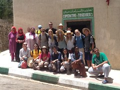 Lakeside Students at the weavers' cooperative of Ain Leuh