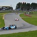 Simon Pagenaud leads a group of cars out of the Esses at Mid-Ohio