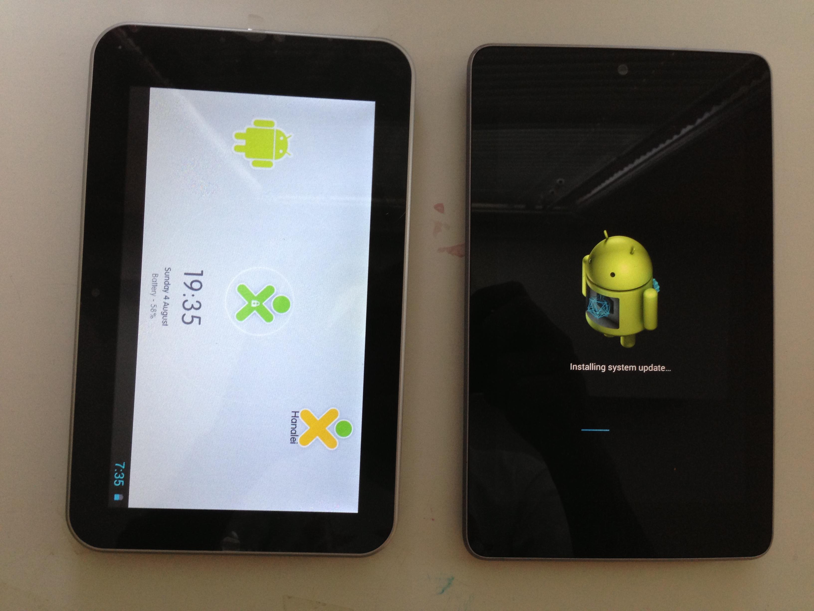 Screen Size Vivitar XO Tablet Vs. Google Nexus 7