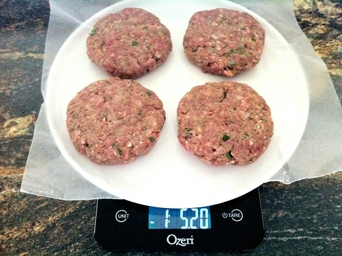 Weighing Hamburger Patties
