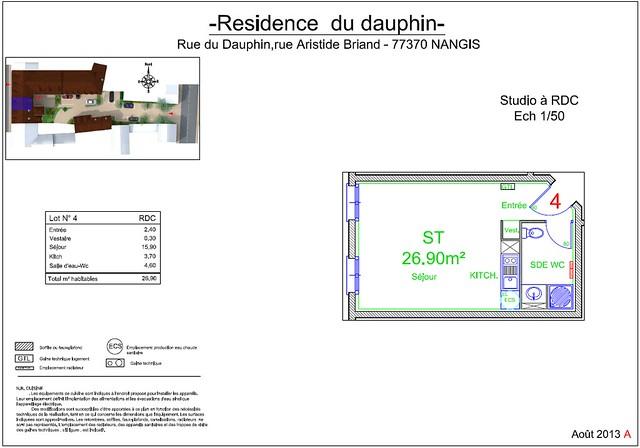 Résidence du Dauphin - Plan de vente - Lot n°4