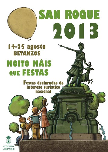 Betanzos 2013 - Festas de San Roque - cartel