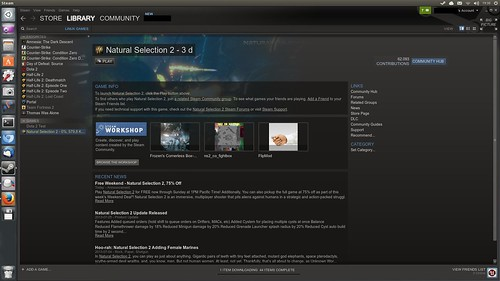 Natural Selection 2 Linuxra a Steam-en