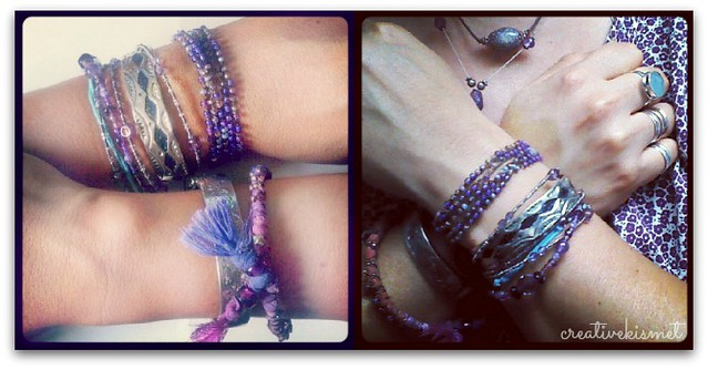 my purple bracelets