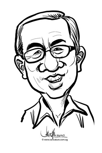 Digital live caricature for NTUC D&D 2013 - 5
