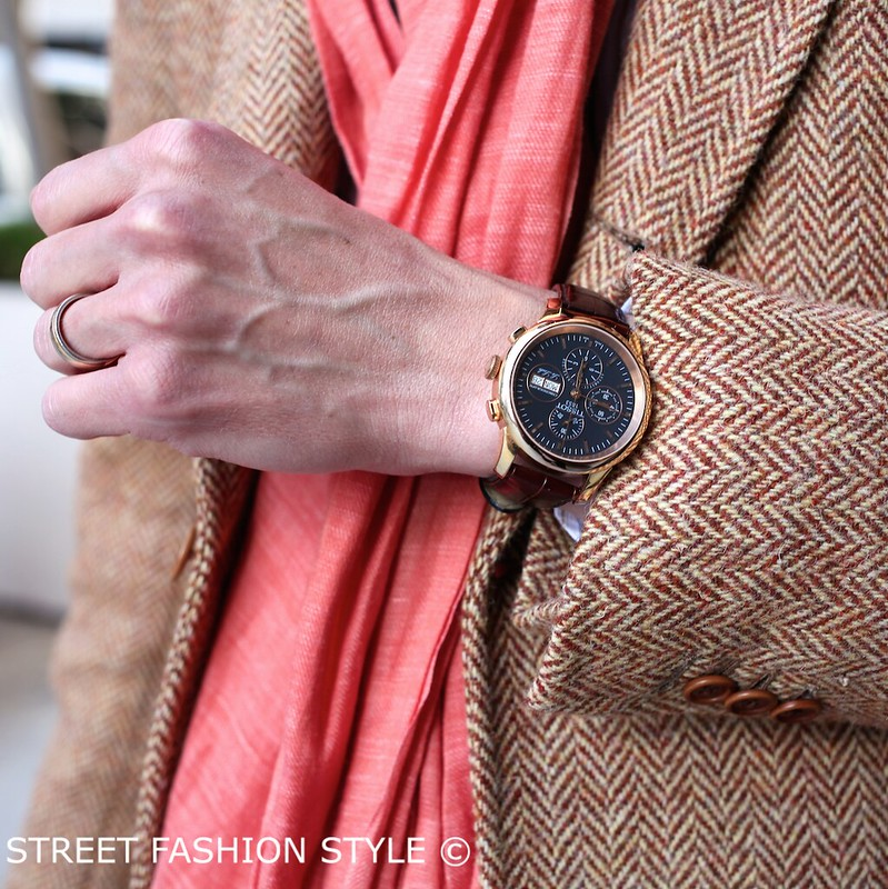 man morsel monday, san francisco streetstyle fashion blog, tissot watch, borrelli suit jacket,