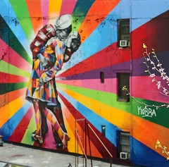 Part of a large mural by Eduardo Kobra in Chelsea, NYC