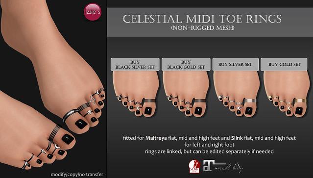 Celestial Midi Toe Rings