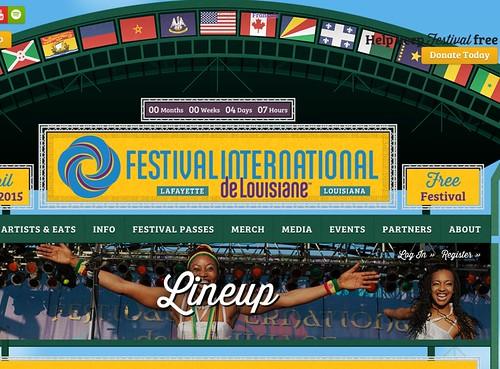Festival International de Louisiane, Lafayette