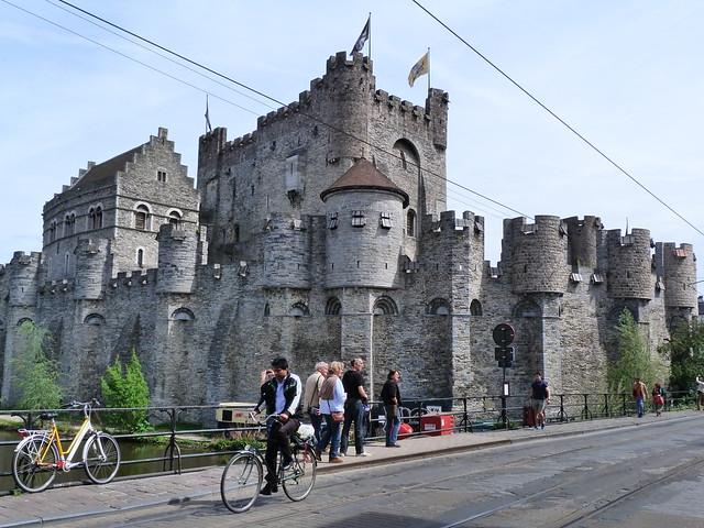 Castillo de los Condes de Flandes en Gante (Flandes, Bélgica)