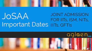 JoSAA 2015 Dates for Registration and Allotment Result