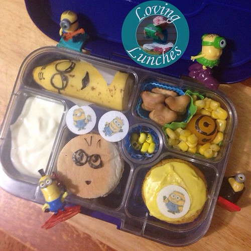 Loving a little #Minion action in tomorrow's #yumbox … #funfood #funwithfood @minihippoau @yumbox @yumboxlunch #bento #schoollunch #LovingLunches