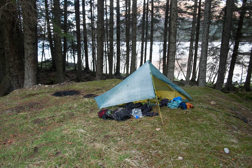 Camp at Loch Osian.