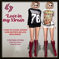 LEGENDAIRE LOVE IN THE BRAIN 10 TEXTURES WITH BOOTS