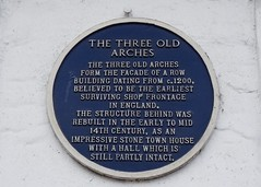 Photo of Three Old Arches, Chester blue plaque