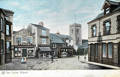 Vintage Postcard : The Cross Elland (1905)