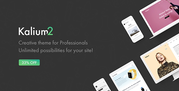Kalium v2.0.6.1 - Creative Theme for Professionals