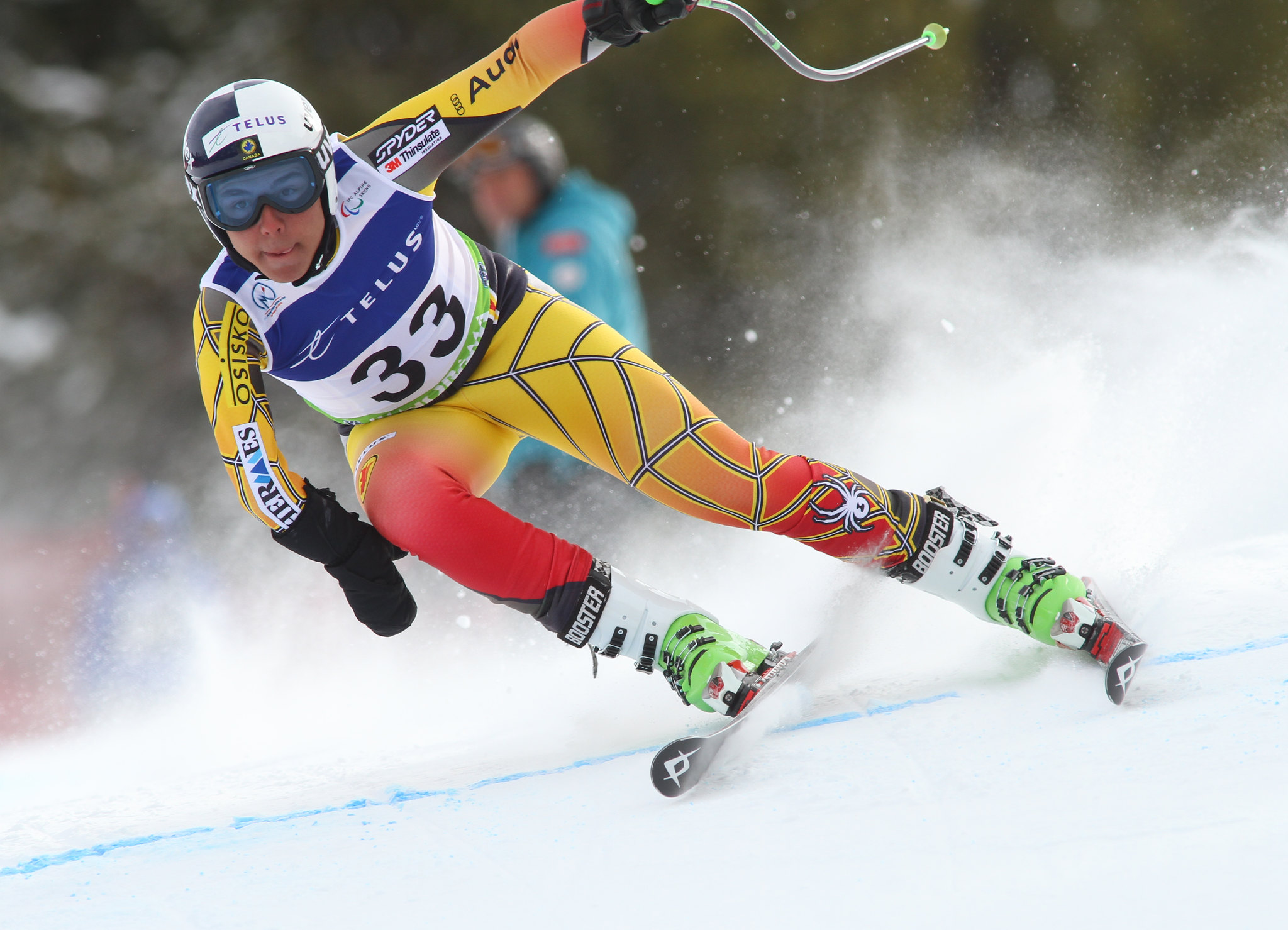 Kirk Schornstein in action in an IPC World Cup super-G in Panorama, B.C.