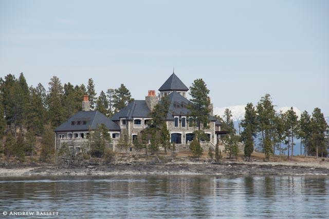 flathead lake island mansion - photo #5