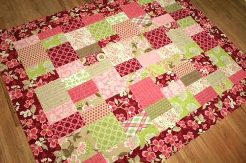 modern meadow quilt top