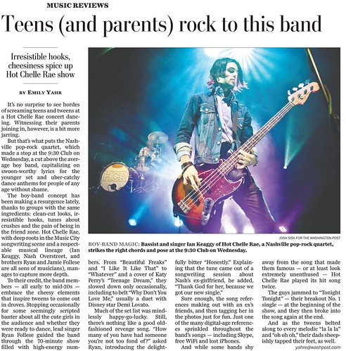 Hot Chelle Rae Washington Post Tearsheet detail