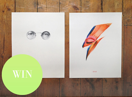 Win 2 x Limited Edition Prints | Lennon & Bowie