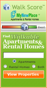 widget for Walk Score's apartment seach function (courtesy of Walk Score.)