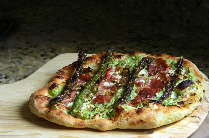 jim lahey's no-knead pizza dough with asparagus, stinging nettles ...