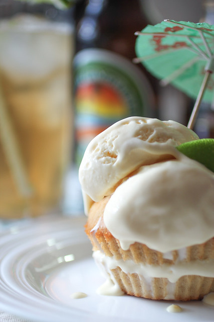 Dark and Stormy Ice Cream Cupcakes
