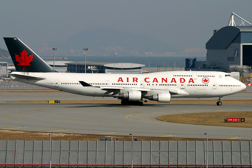Air Canada, Boeing 747-400M, C-GAGL, Hong Kong International