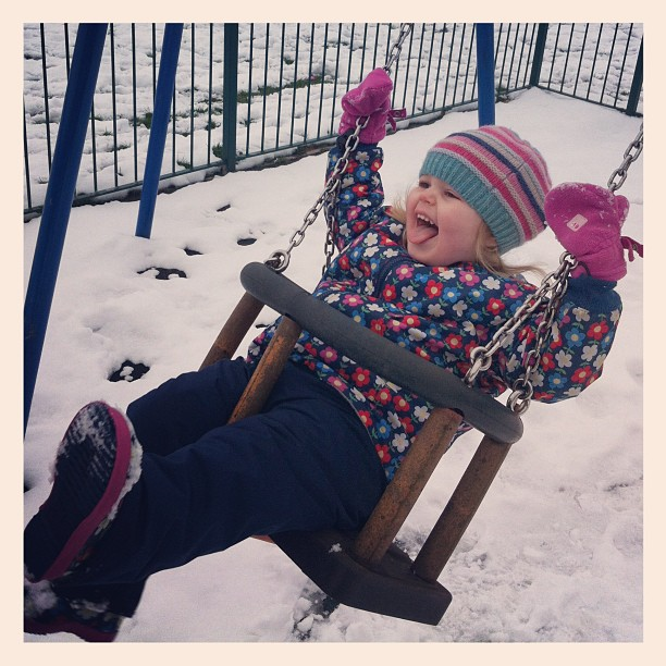 Snow baby at the park!