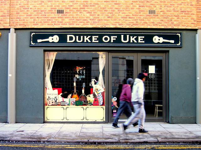 Duke of Uke, en Brick Lane, Londres
