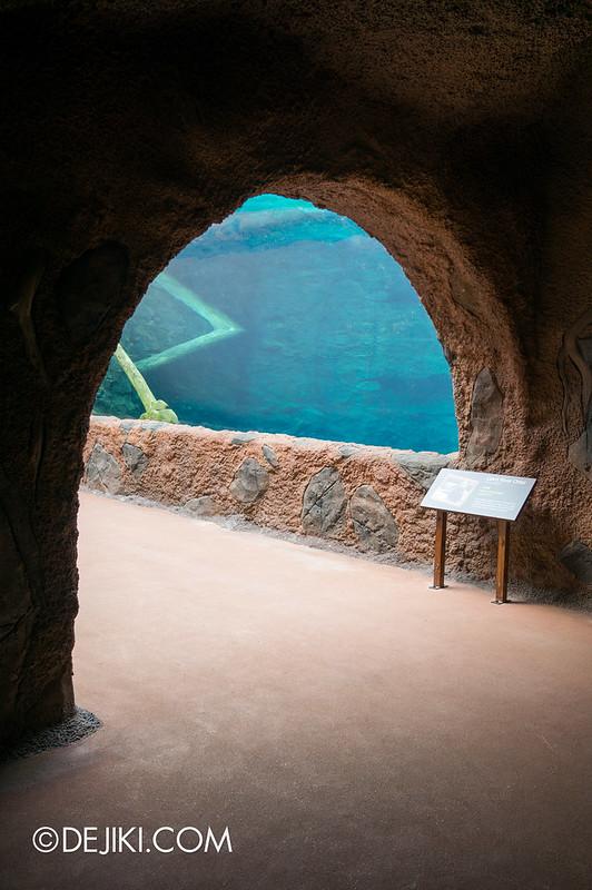 River Safari - Giant River Otter tube entrance