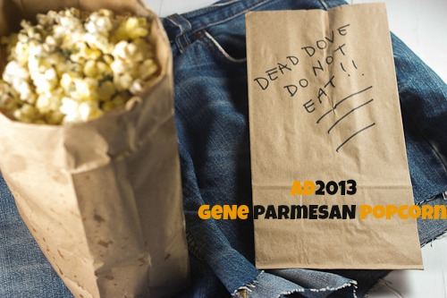{Gene} Parmesan Truffle Basil Popcorn