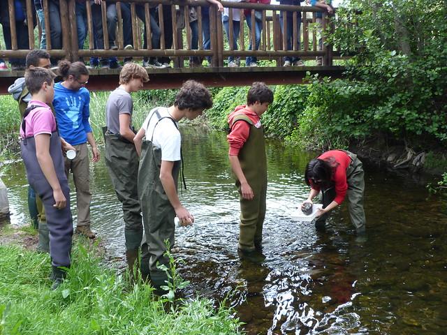 Educación ambiental en el río Guadalix