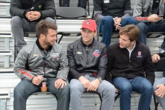 Team Andretti members E.J. Viso, Marco Andretti and Carlos Munoz