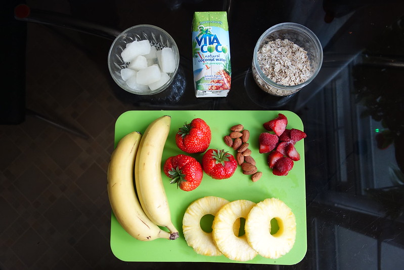vitacoco, smoothie, electrolytes, recipe, pineapple smoothie, strawberry smoothie, vitacoco smoothie