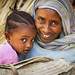 Mother and girl, Eritrea by Eric Lafforgue