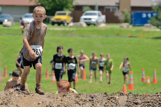 Grandson ~ Tulsa Mud Run