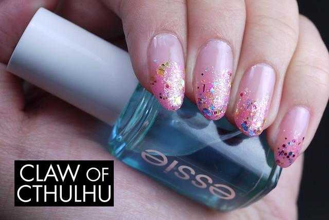 Glitter Gradient with Rainbow Honey Pinkie Promise