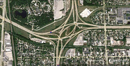 Milwaukee's Zoo Interchange (via Google Earth)