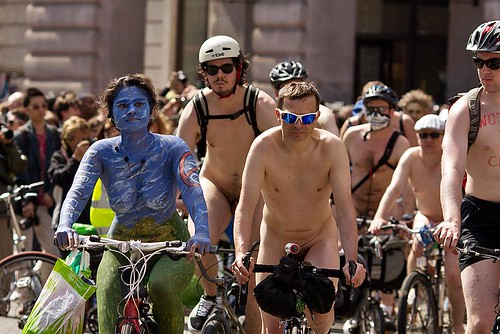 London Naked Bike Ride 2013 by chrisjohnbeckett