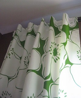 Green Sheet Curtains