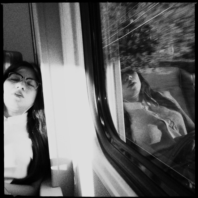 Una siestita en el tren